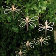 Beaded Dragonfly String Lights