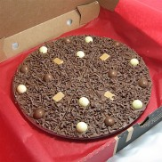 Heavenly Honeycomb Chocolate Pizza