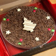 Christmas Chocolate Pizza