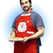 Flashing Felt Christmas Apron