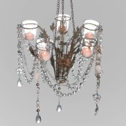 Cinderella Tea Light Chandelier