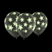 Glow In The Dark 11&quot; Star Balloons (25 Pack)