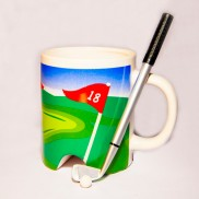 Golf Mug with Pen Putter