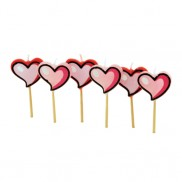 Heart Candles (6 Pack)