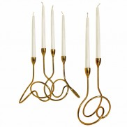 Loop Gold Candle Holder