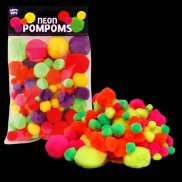 Neon Pompoms