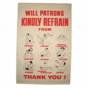 Pool Poster Tea Towel