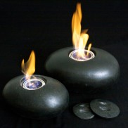 Real Flame Lamp - Pebble