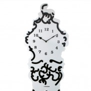 Silhouette Steel Clock