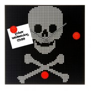 Skull Wall Clock Memo Board