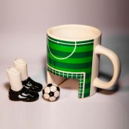 Soccer Mug with Boots and Ball