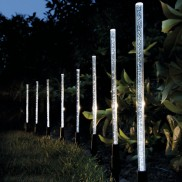 Solar Crystal Bubble Garden Light Sticks (8 Pack)