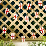 Solar England Flag String Lights