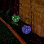 Solar Hanging Crackled Ball LED Light