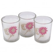 Victoria &amp; Albert Printed Candle Set