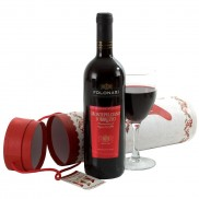 Festive Red Wine Gift
