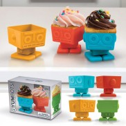 Yumbots Robot Cupcake Moulds