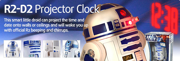R2-D2 Projector Clock